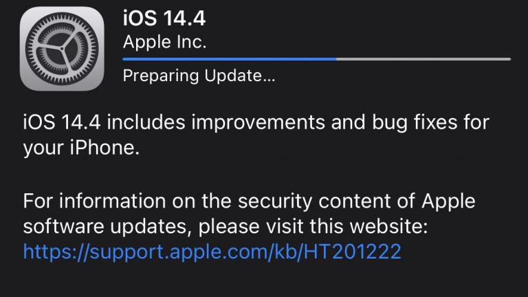 iOS 14.4 ACTUALIZACIÓN