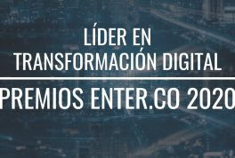Líder Transformación digital - premios ENTER.CO 2020