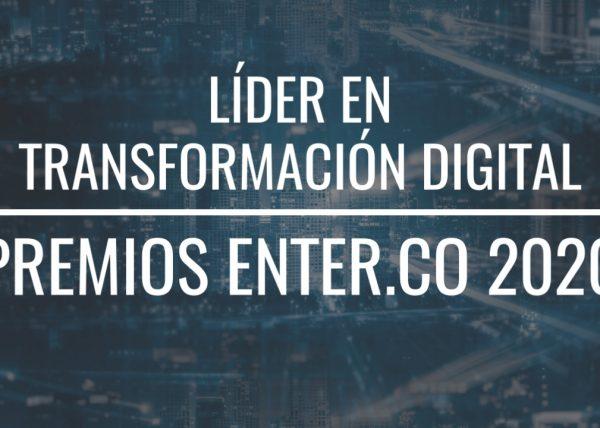 Líder Transformación digital - premios ENTER.CO 2020