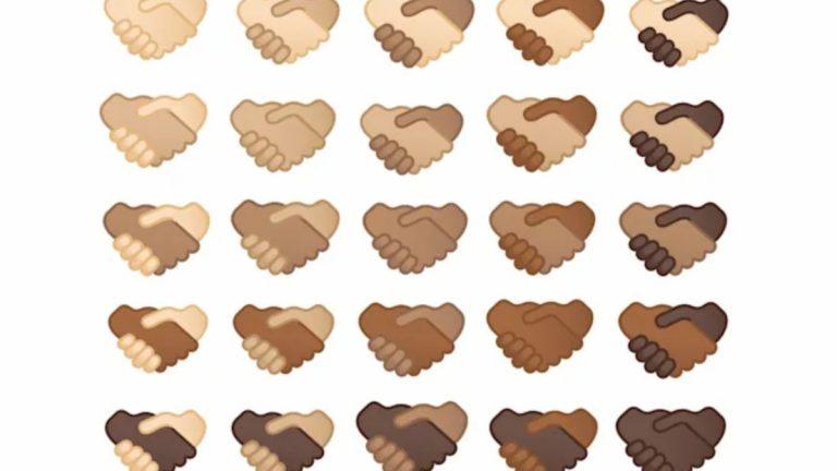 Emoji apretón de mano