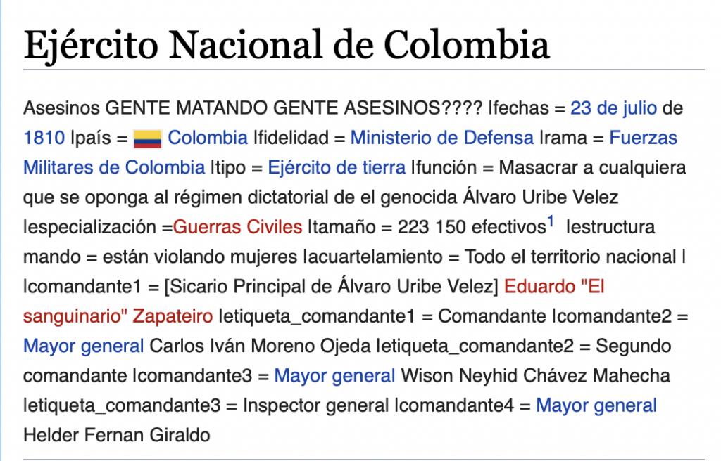 Wikipedia Ejército nacional