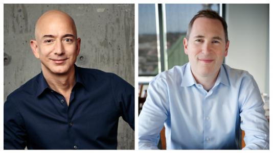 Jeff Bezos y Andy Jassy