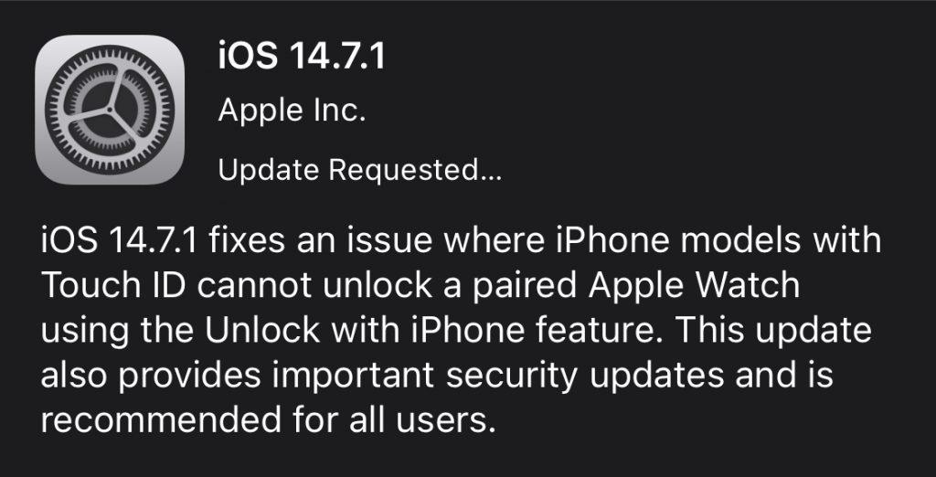 iOS 14.7.1.