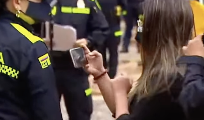 Código QR policía nacional