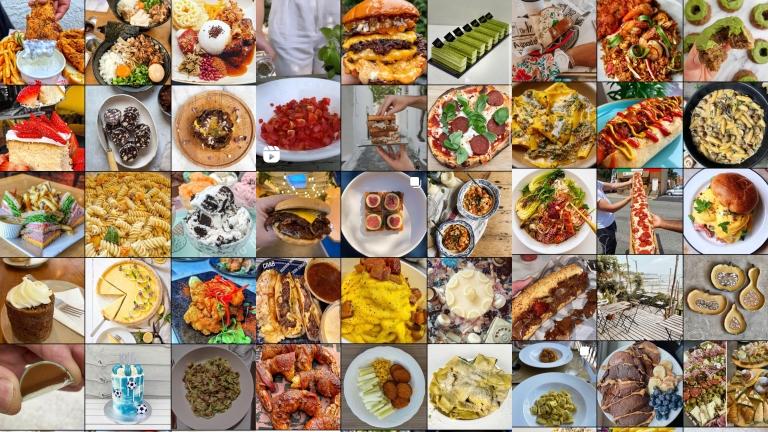 Redes sociales, comida